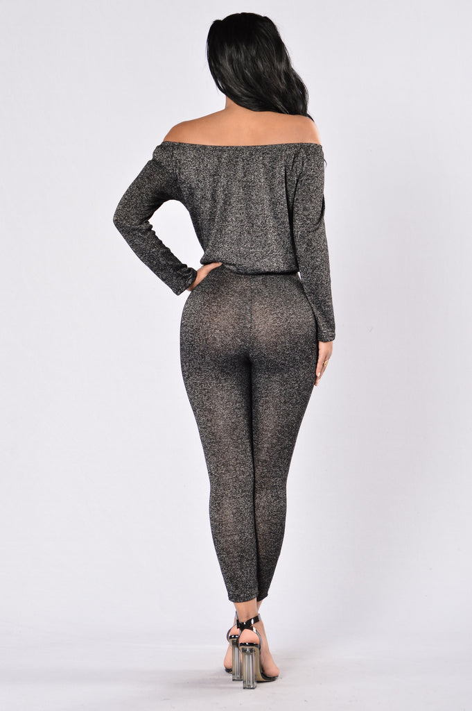 Off Track Jumpsuit - Charcoal/Black