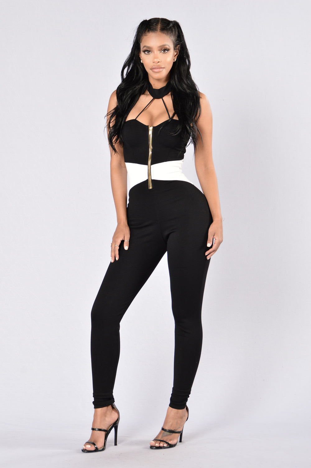 Love Letters Jumpsuit - Black/White