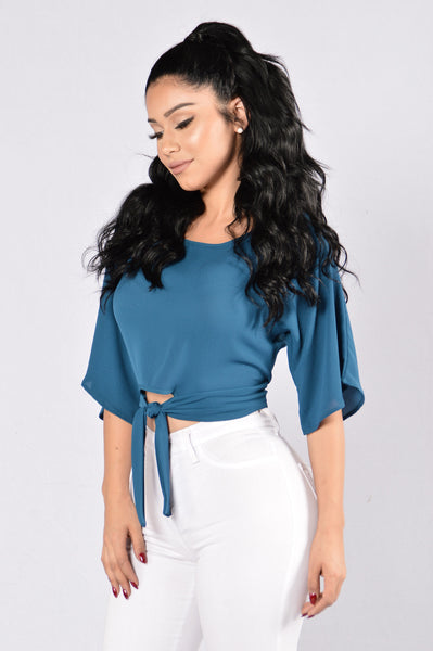 Wrap Me Close Top - Teal