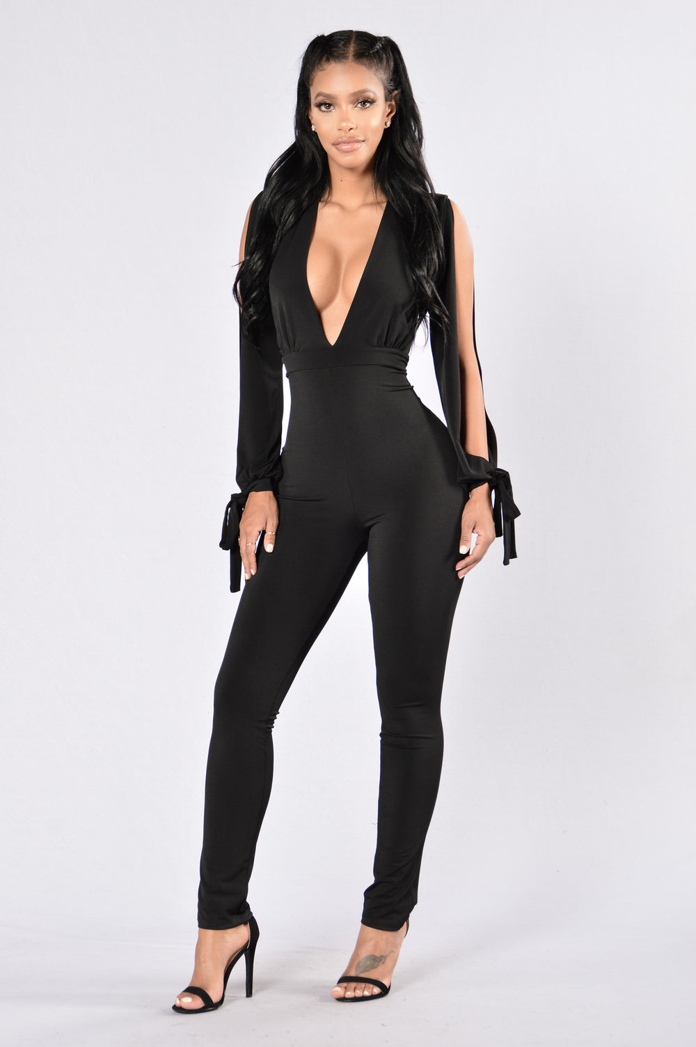Coming After You Jumpsuit - Black