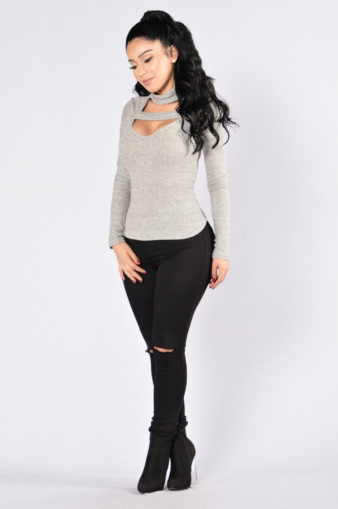 That's Right Top - Heather Grey