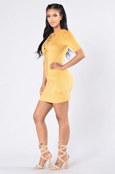 Big Sur Dress - Mustard