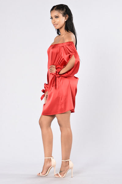Middle Of The Dance Floor Dress - Red
