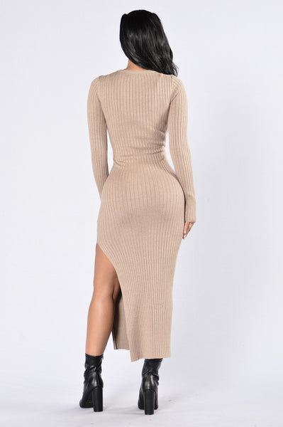 Little Black Book Dress - Oatmeal