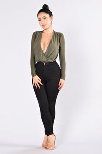 Work For It Bodysuit - Olive