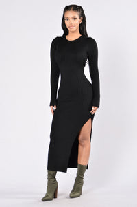 Little Black Book Dress - Black Angle 1