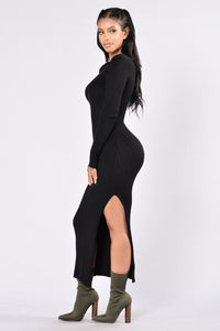 Little Black Book Dress - Black Angle 3
