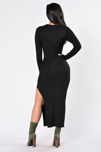 Little Black Book Dress - Black Angle 2