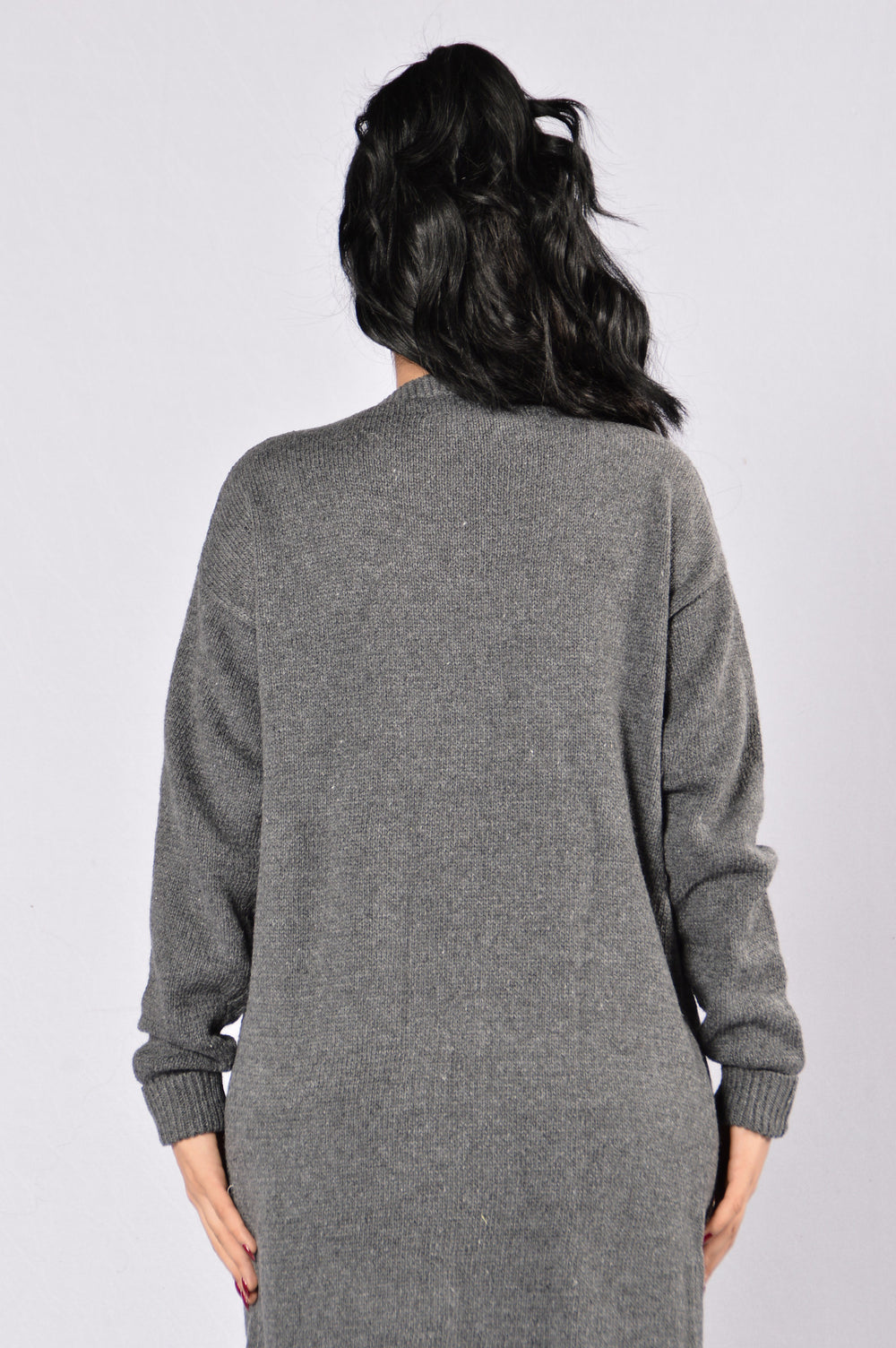 Not Letting Go Sweater - Charcoal