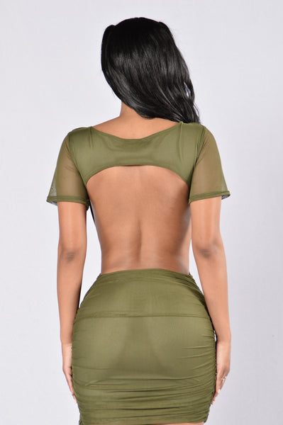 Late Night Dress - Olive