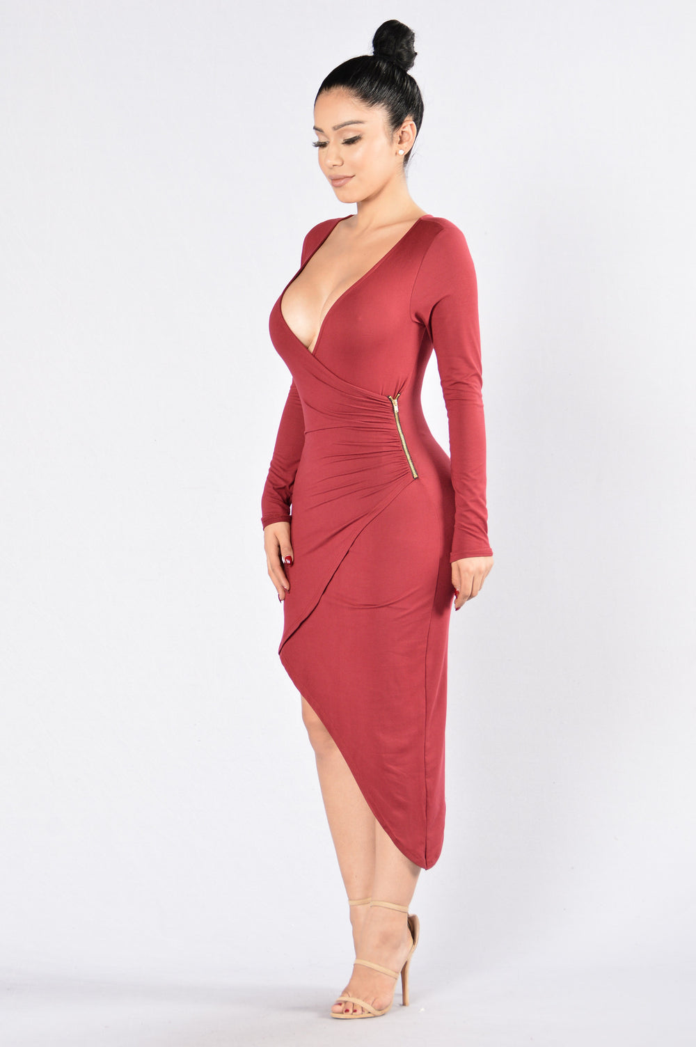 Whirlwind Romance Dress - Wine