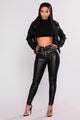 Roxy High Rise Pants - Black