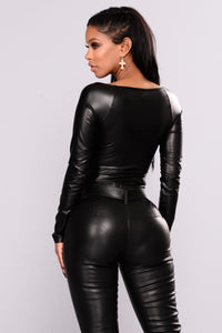 Being Secretive Bodysuit - Black