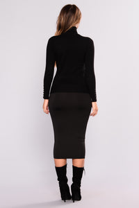 Elina Sweater Top - Black