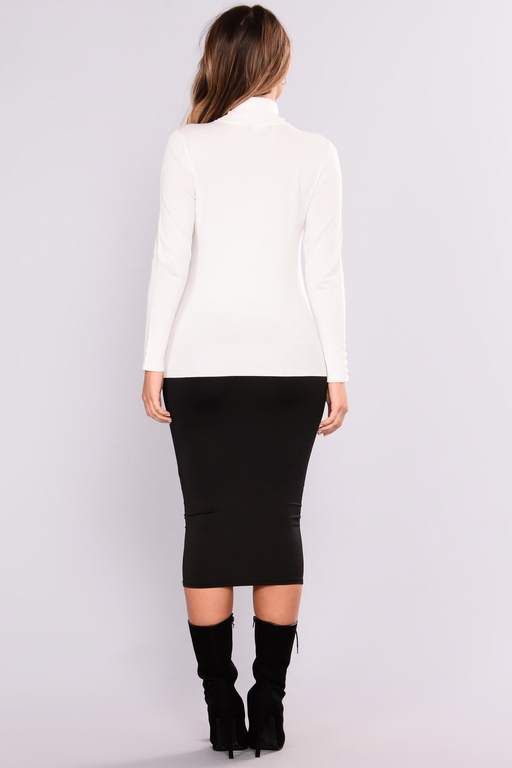 Elina Sweater Top - White