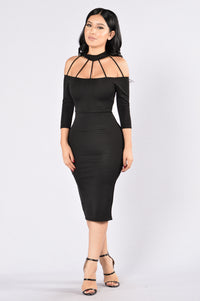 Too Toxic For Me Dress - Black