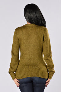 Live It Up Sweater - Olive