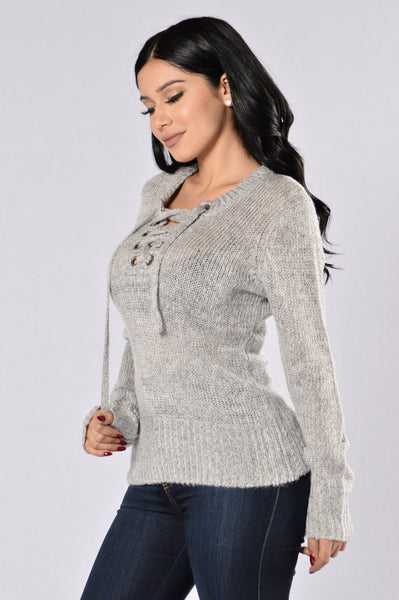 Live It Up Sweater - Heather Grey