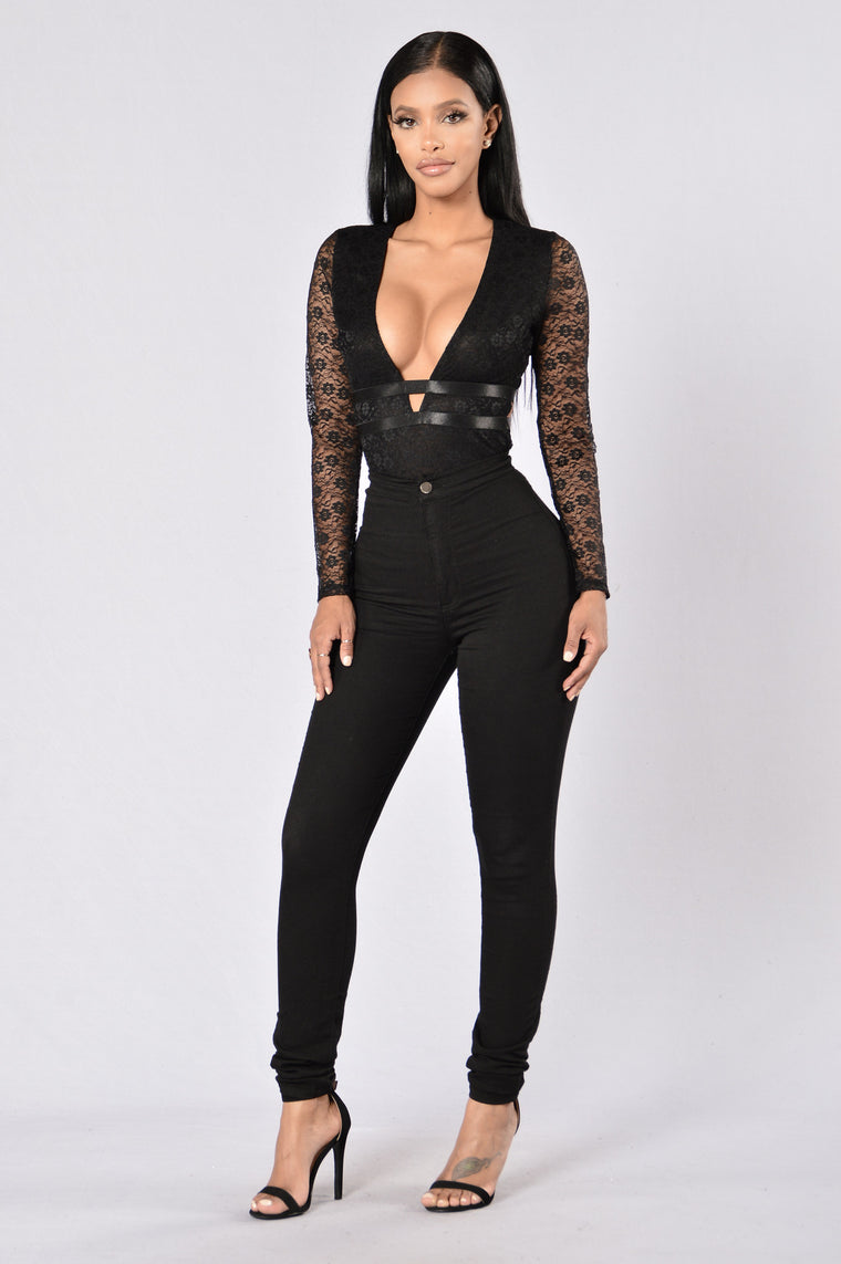 Lust for Life Bodysuit - Black