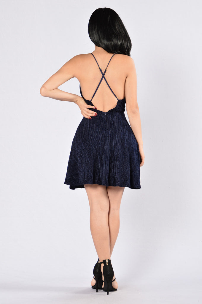 You Melt My Heart Dress - Navy