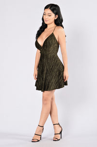 You Melt My Heart Dress - Olive