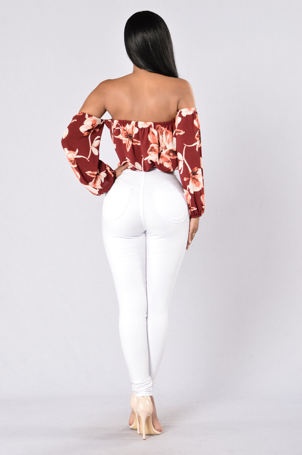 Love Birds Bodysuit - Burgundy