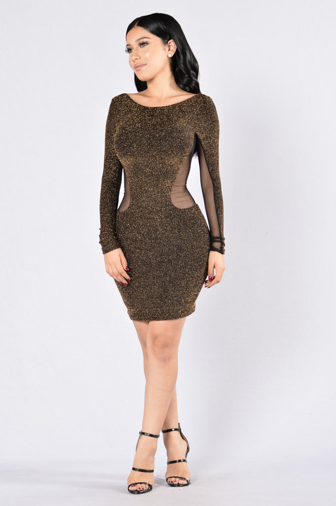 Crush Crush Crush Dress - Gold