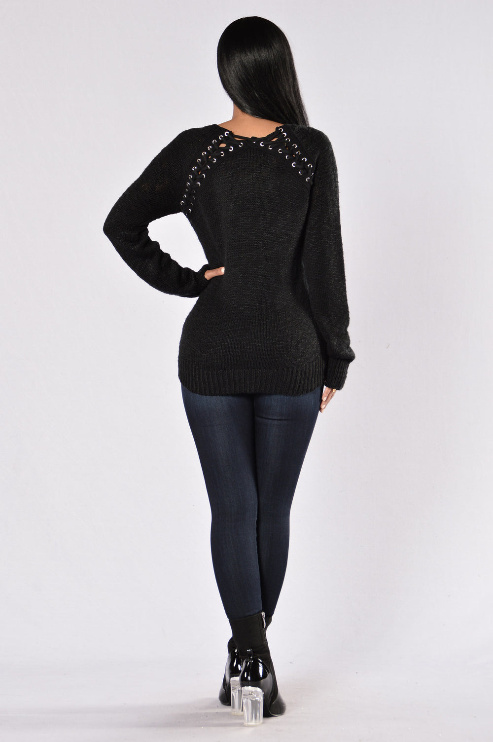 Secret Is Out Sweater - Black