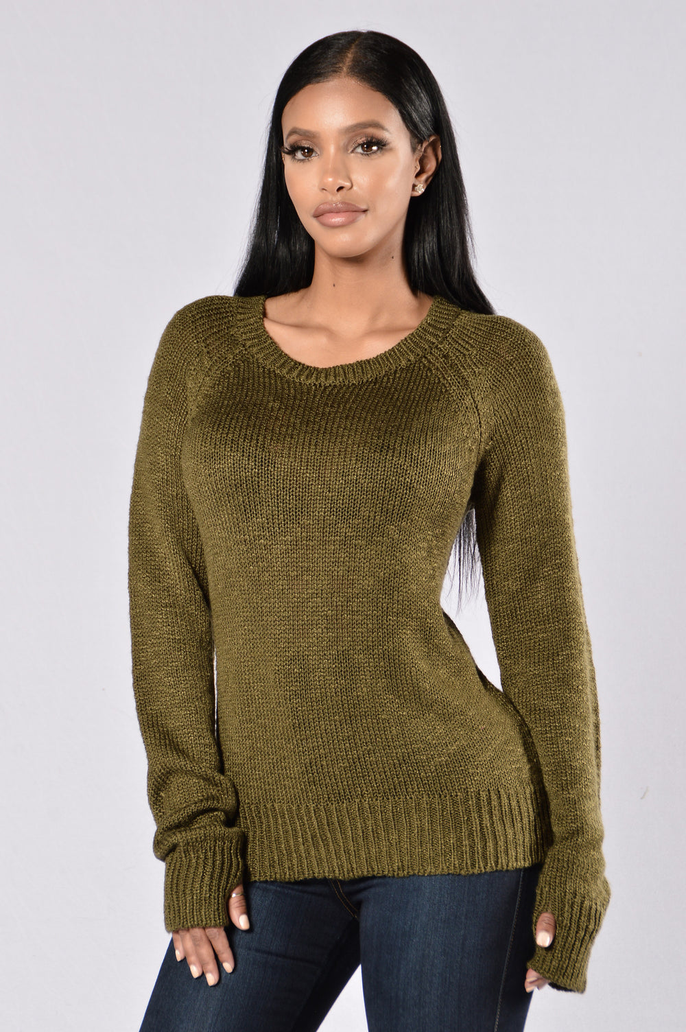 Secret Is Out Sweater - Olive