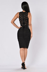 Highlight Of The Night Bandage Dress - Black