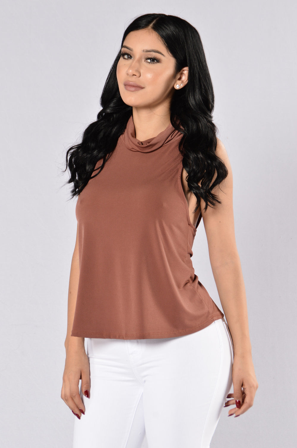 Mocking Bird Dress Top - Red/Brown