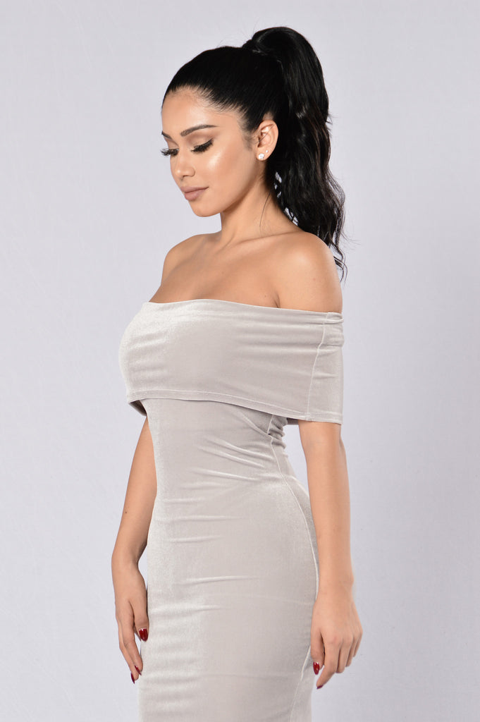 All Night Long Dress - Silver