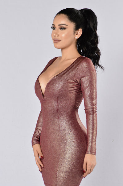 The Bachelorette Dress - Burgundy