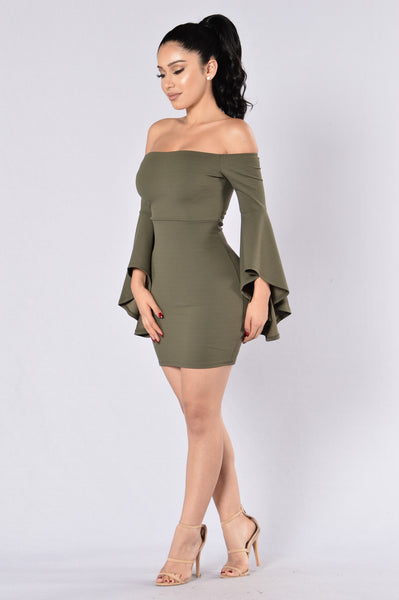 Give Me All Your Love Dress - Olive