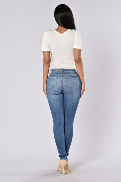 Shape Shifter Jeans - Medium Stone Wash