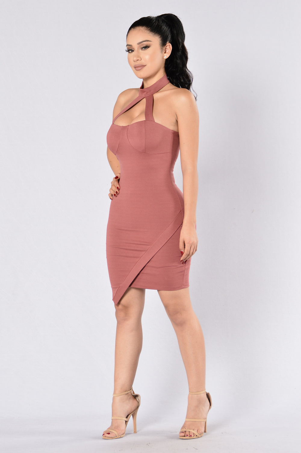 Call Me Beep Me Dress - Marsala