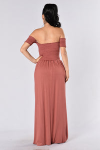 Careful What You Wish For Dress - Dark Mauve