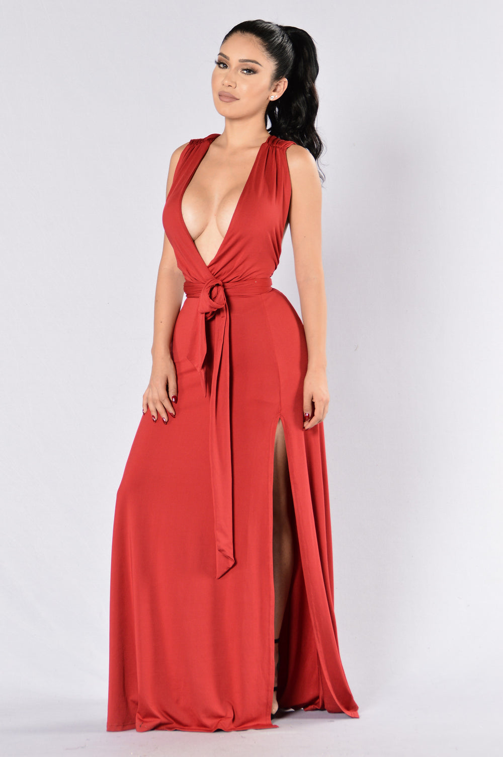 Divine Sorrow Dress - Burgundy