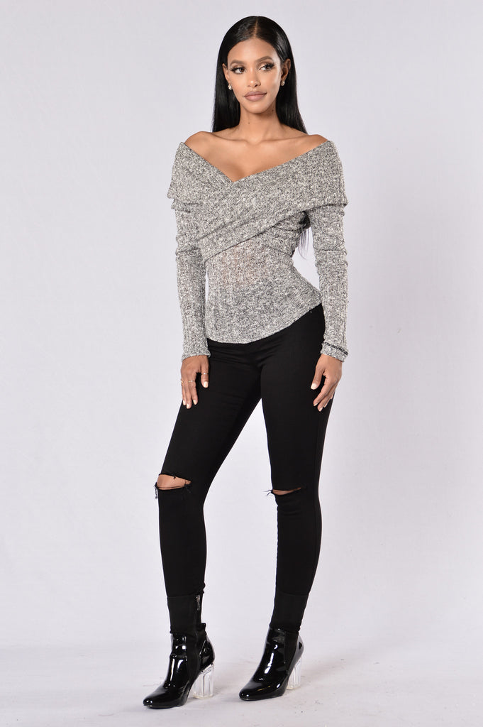 Hazey Shade Of Winter Sweater - Grey