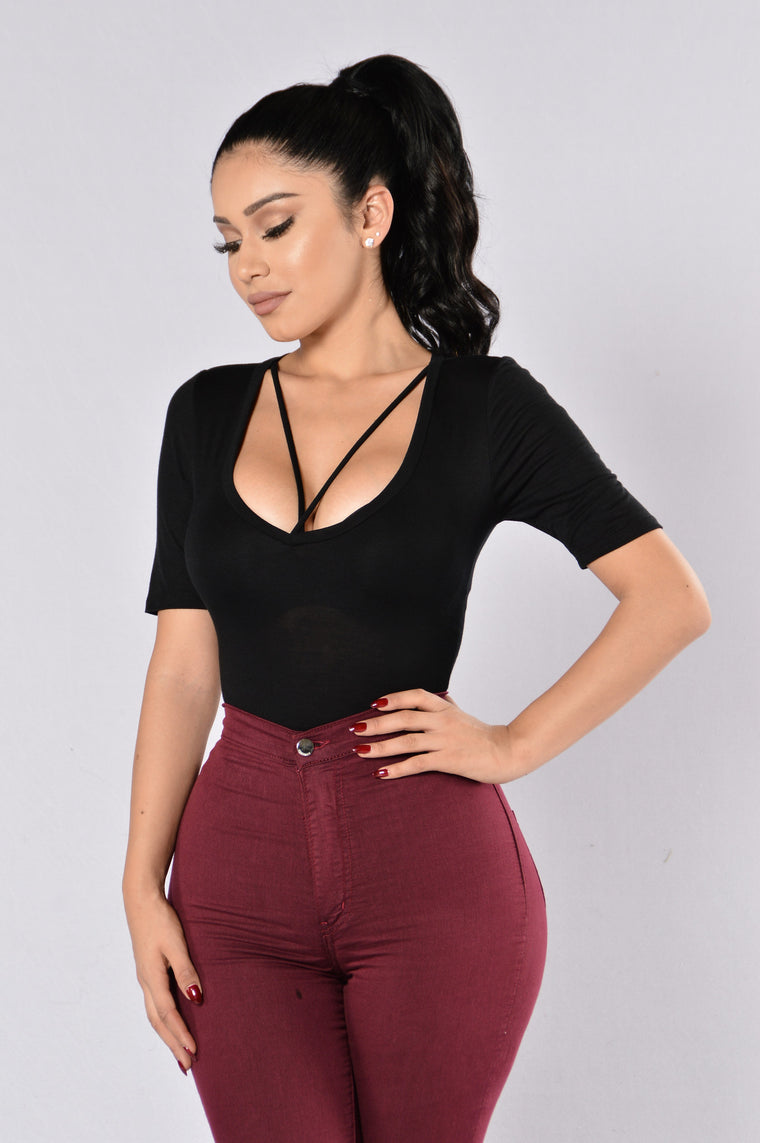 Drop The Basic Bodysuit - Black