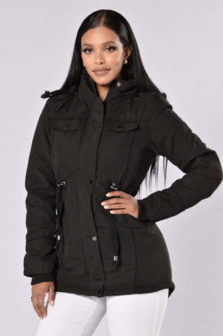 Warm With You Jacket - Black