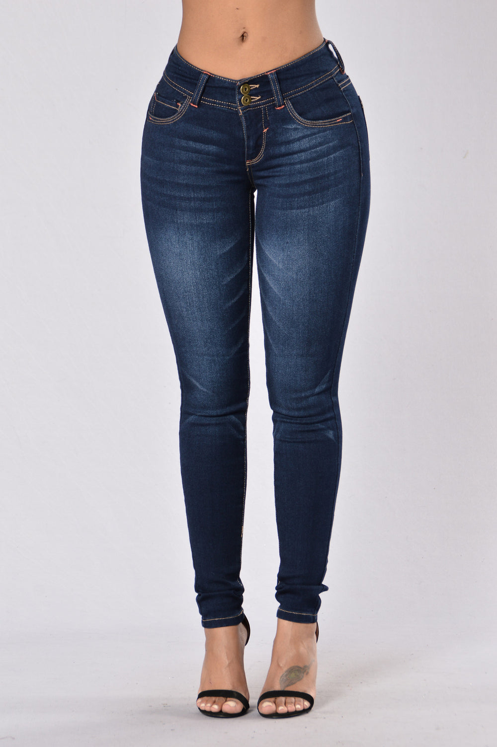 Bad Bone Jeans - Dark Stone Wash