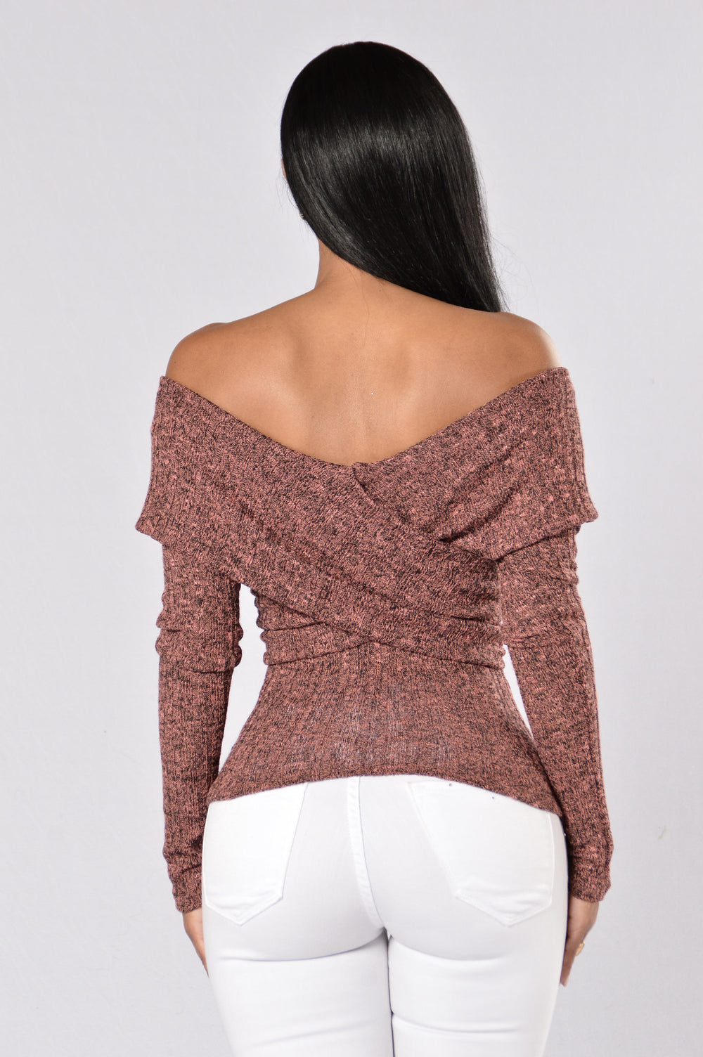Hazey Shade Of Winter Sweater - Wine