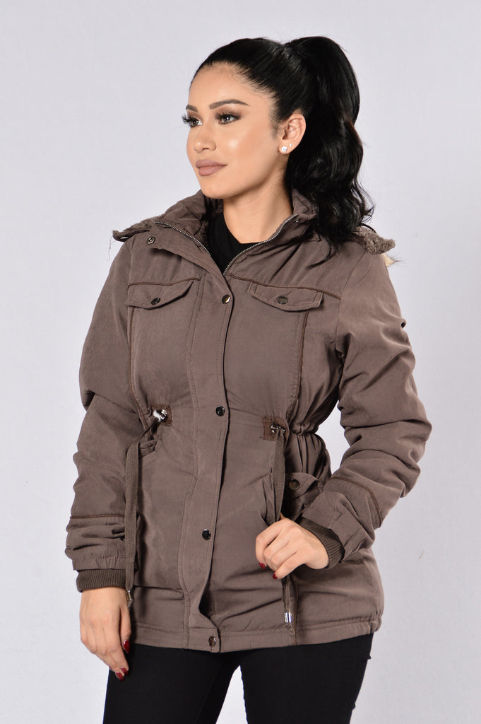 Warm With You Jacket - Mocha