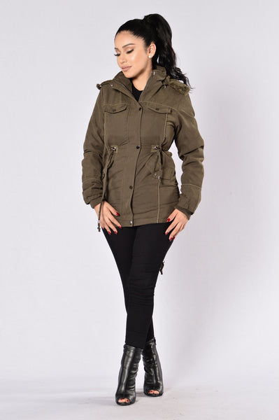 Warm With You Jacket - Olive