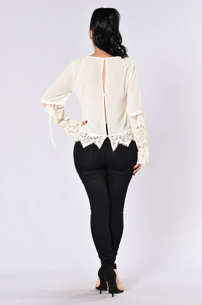 Mirror Mirror On The Wall Top - Cream