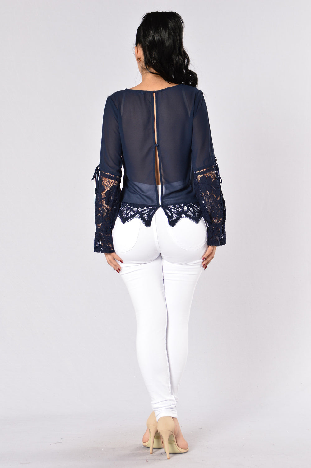 Mirror Mirror On The Wall Top - Navy