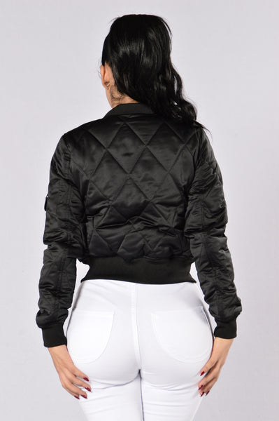 Keep It In Line Jacket  - Black
