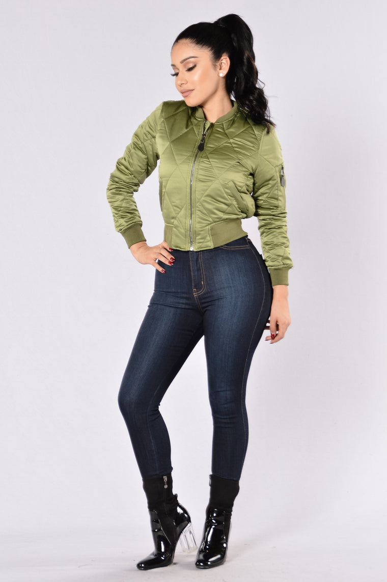 Keep It In Line Jacket  - Olive