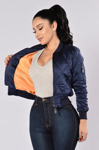 Keep It In Line Jacket  - Navy